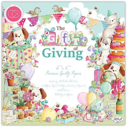 """The Gift of Giving 6""""x6"""" Premium Paper Pad"""
