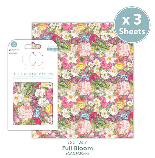 Full Bloom - Decoupage Paper Set
