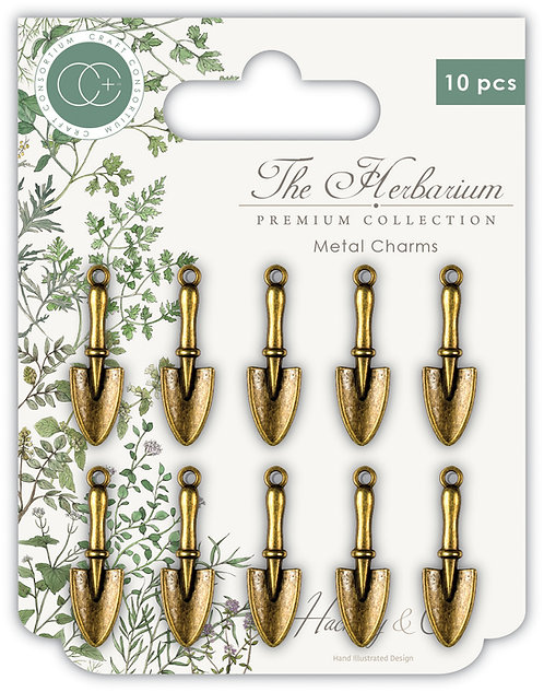 The Herbarium - Trowel Metal Charms