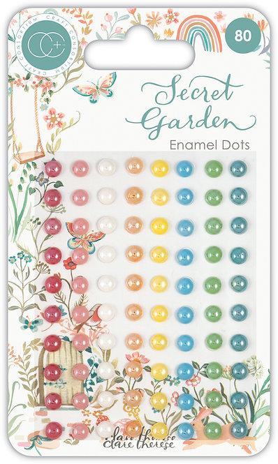 Secret Garden - Adhesive Enamel Dots
