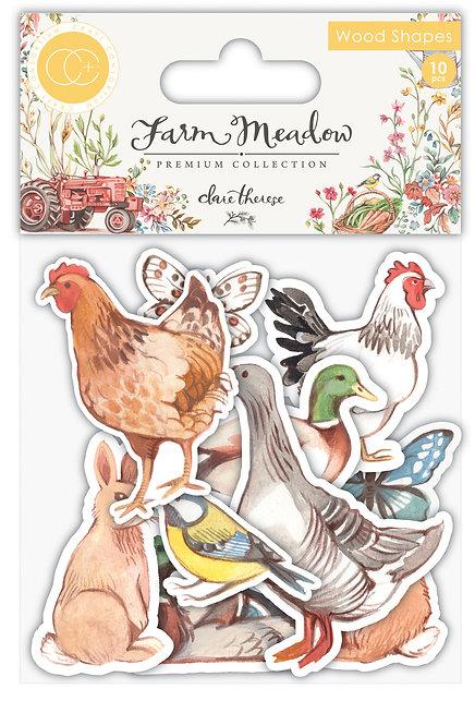 Farm Meadow - Wood Shapes - Animals
