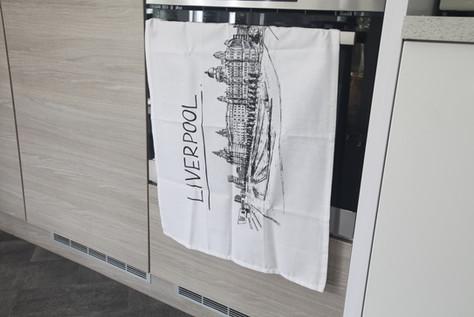Liverpool Skyline Tea Towel