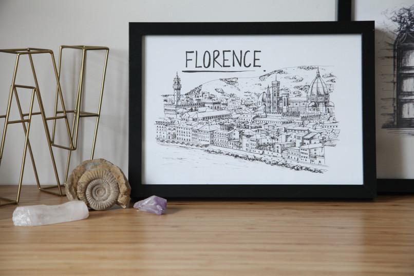 Florence-Skyline-Wallart-Print