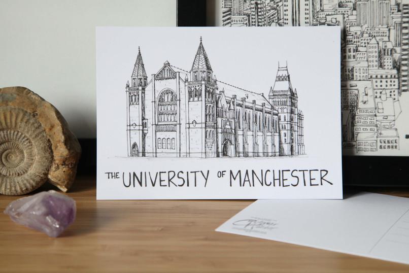 Manchester-University-Postcard