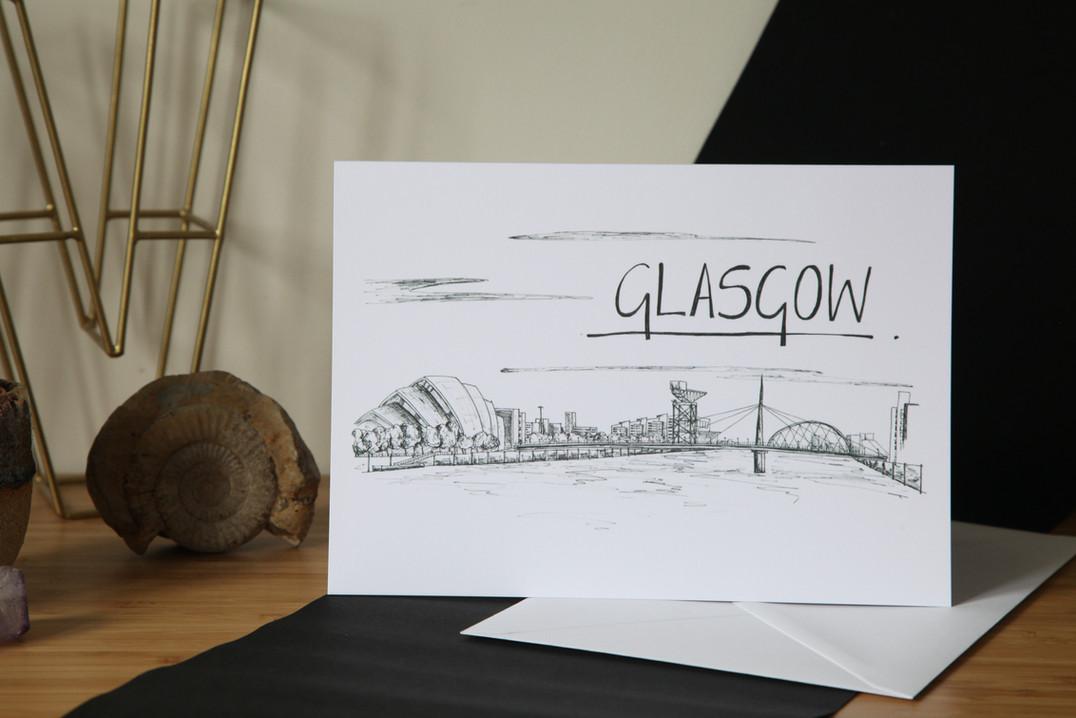 Glasgow-Skyline-Greetings-Card