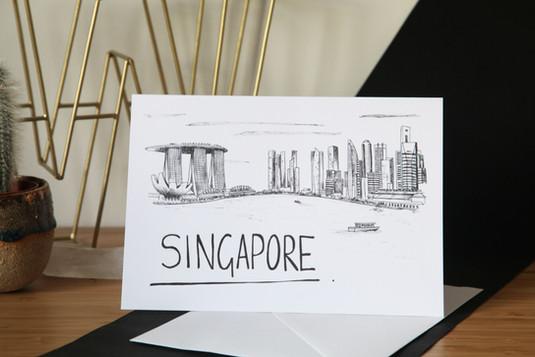 Singapore-Skyline-Greetings-Card