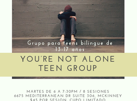 "Grupo para Teens ""You're not alone"""