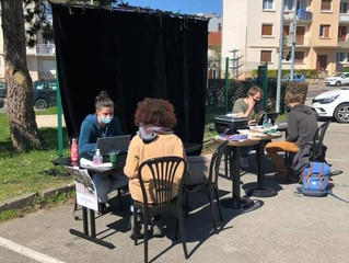 Ecriture avec les étudiants sur le campus de Dijon