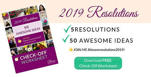 2019 Resolutions Worksheet Image for Wix