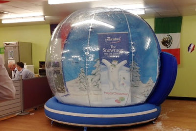 8 ft Giant Snow Globe for Hire