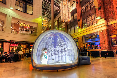 Giant Snow Globe with Easy Access for Hire