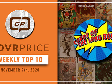 Lords of The Long Box CovrPrice Top 10 Hot Comic Books Sold - Week Ending November 8th