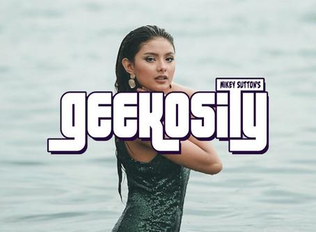 Actress Kate Valdez and 'Geekosity' owner Mikey Sutton Interviewed on Philippine TV news program