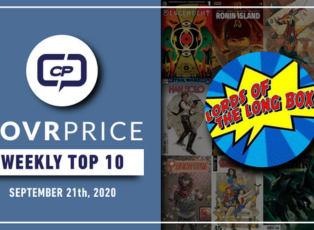 Live Stream: CovrPrice Top 10 Hot Comic Books Sold - Week Ending September 21st
