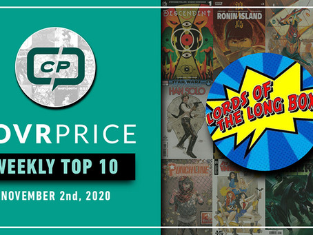 Lords of The Long Box CovrPrice Top 10 Hot Comic Books Sold - Week Ending November 1st