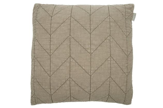 Cotton Cushion Jessie olive grey