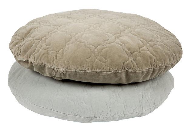 Velvet Cushion Jade olive grey