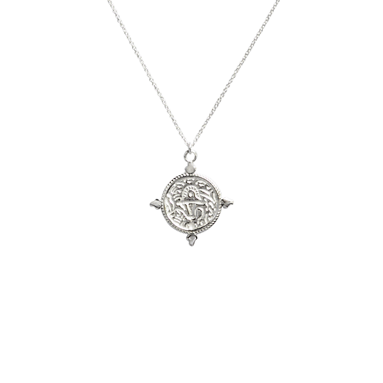 sterling silver coin disc necklace