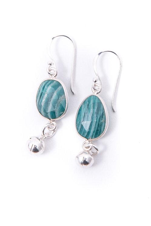 faceted amazonite gemstone earrings