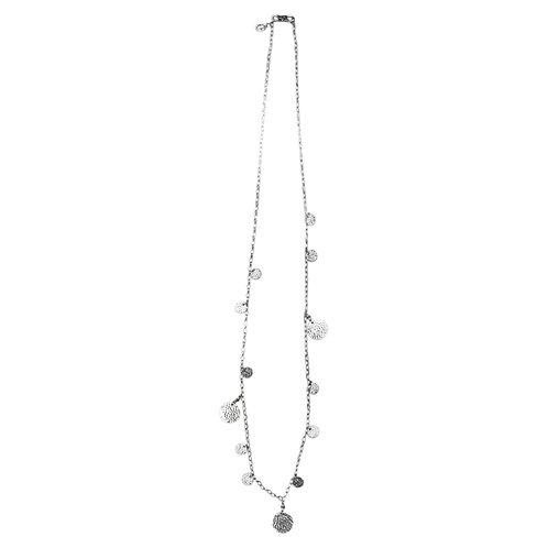 Stella Beaten Disc Necklace