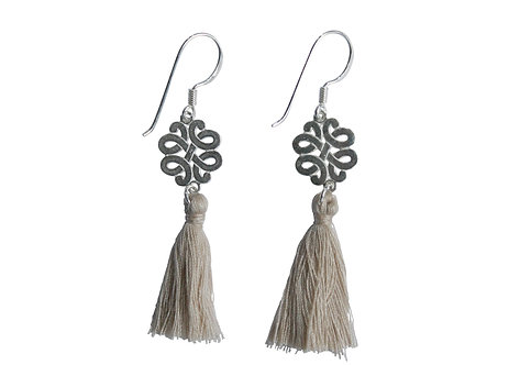 sterling silver earring with tassel