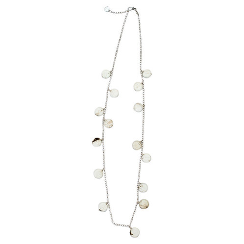 Stella Stone Disc Necklace