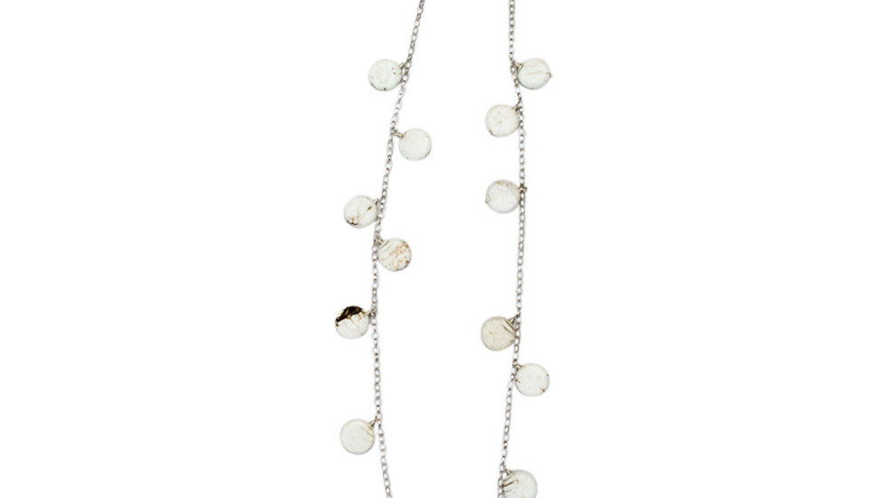 Stella Stone Disc Necklace