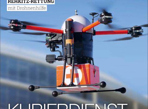 AEROVISION Drone Support schafft es in die Fachzeitschrift Drones-Magazin.