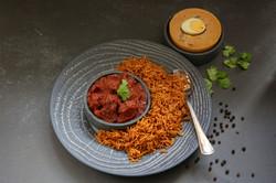 Jollof Rice with Goat Stew
