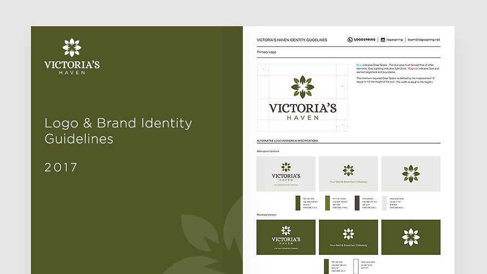 logospring victoria's haven brand guide