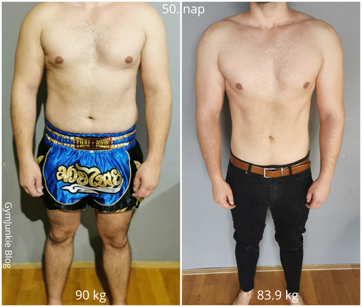 Renátó 50. nap - Karantén diéta: -6.1 kg