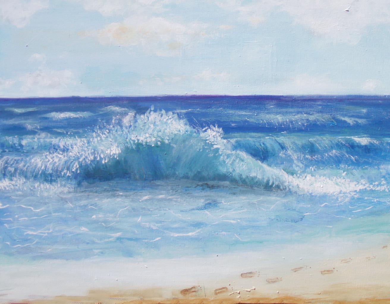 Wave, acrylic