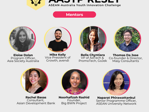 Selected as Mentor in the AASYP Reset: ASEAN-Australia Youth Innovation Challenge