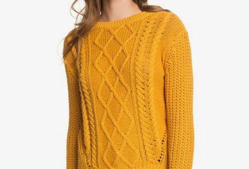 Roxy England skies sweater yellow