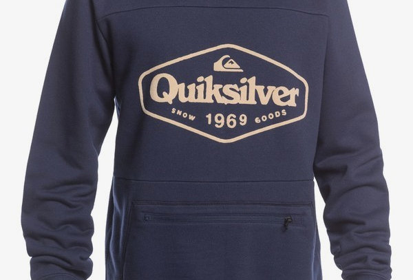 Quiksilver Big Logo Tech Hoodie Blue