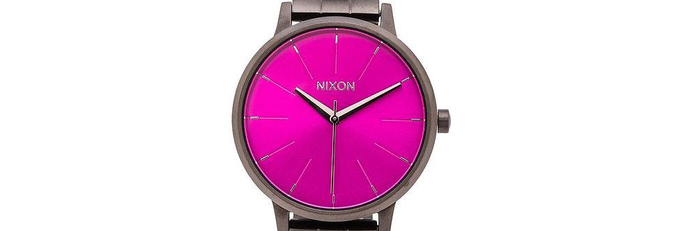 Nixon Kensigton watch gunmetal/pink Sunday