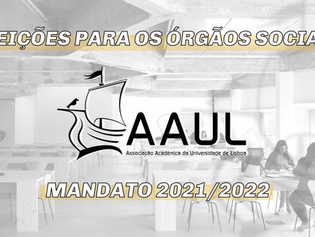 ELEIÇÕES PARA OS ÓRGÃOS SOCIAIS DA AAUL PARA O MANDATO DE 2021/2022