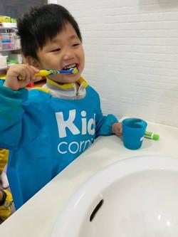 Learning to brush teeth