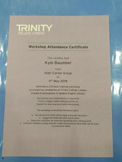 Trinity GESE teacher training may18