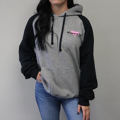 Black & Gray Color-Block Sweatshirt