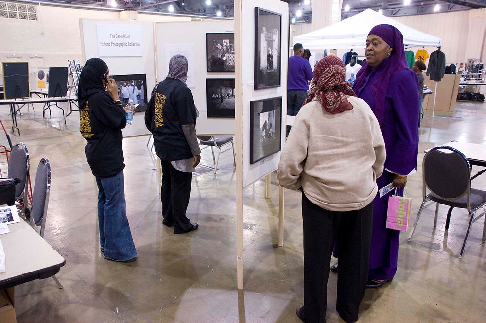 MANA Conference, Philadelphia (2008) - My mother, Tunura Barbour and the late, Amina Abdul Haqq viewing the exhibit.