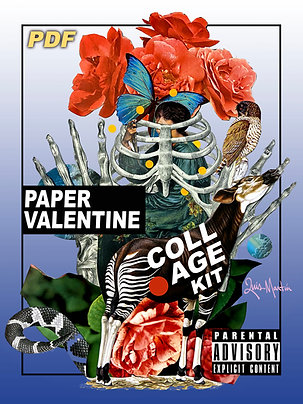 Paper Valentine Collage Kit