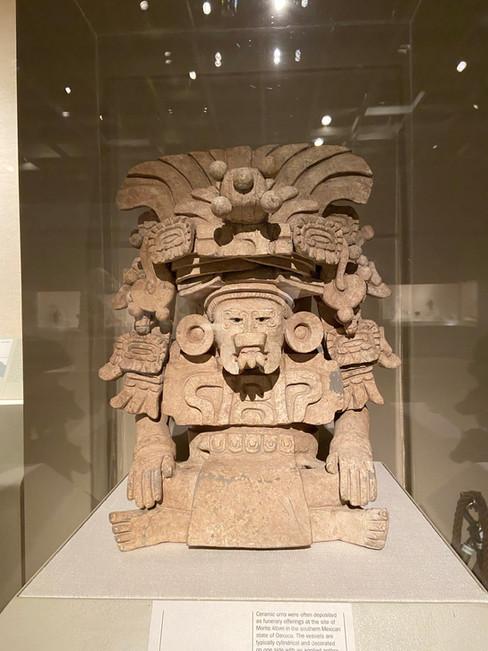 Funerary Urn with Deity