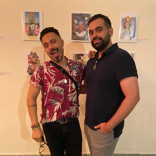 Luis with Elvis at La Casa Casa