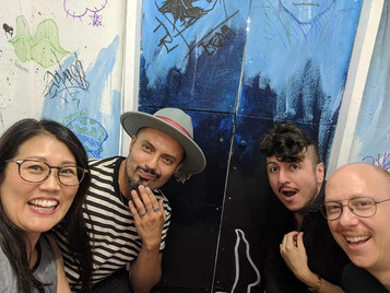 With Artist Sophia Chizuco and friends.