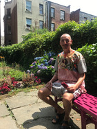 Artist Gabriel Garcia Roma at his home in Harlem USA