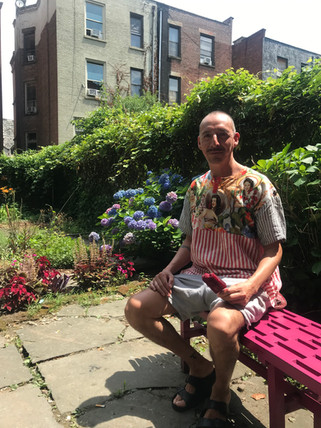 Artist Gabriel Garcia Roma at his home in Harlem USA