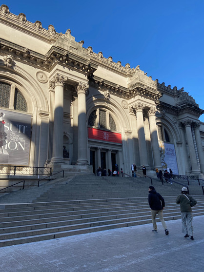 Cold Day at the MET, main entrance