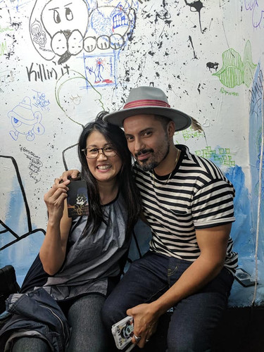 With Artist Sophia Chizuco