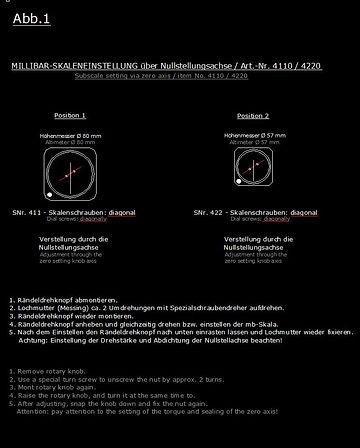 Millibarskaleneinstellung - millibar set